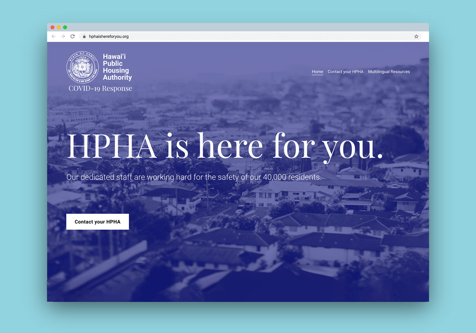UHCDC and SoA Designs COVID-19 Resource Website for HPHA