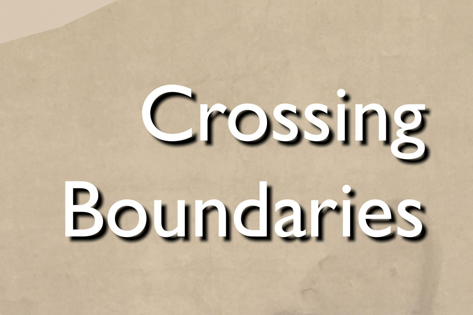 Crossing Boundaries; Spatial Overlap in Far Eastern Art and American Architecture.